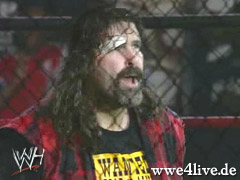 Mick Foley first match Foley_in_Cage_01